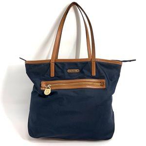 Michael Kors Large Tote Nylon Blue Shoulder Bag